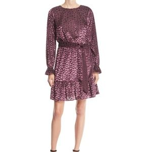 NWOT MICHAEL Michael Kors Scalloped Velvet Dress